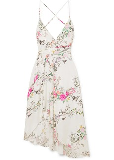 Equipment Tabitha Simmons Estille Asymmetric Floral-print Silk Crepe De Chine Dress