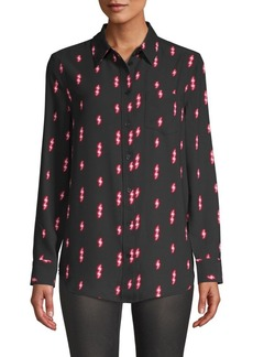 Equipment Thunderbolt-Print Long-Sleeve Shirt
