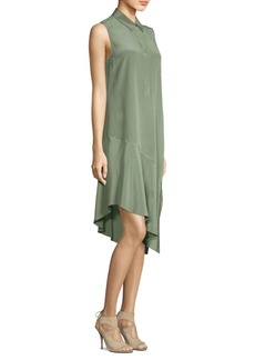 Equipment Tyra Asymmetric SIlk Shirtdress