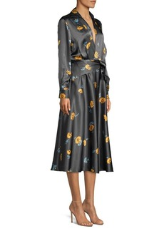Equipment Vivienne Silk Long Sleeve Print Dress