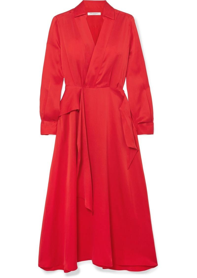 Equipment Vivienne Wrap-effect Silk-blend Dress