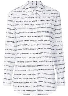 Equipment word print shirt