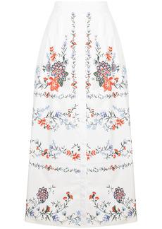 Erdem A-line floral-print skirt