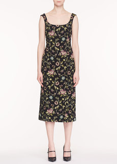 Erdem Arlie Scoop-Neck Sleeveless Floral Stretch-Jacquard Midi Dress