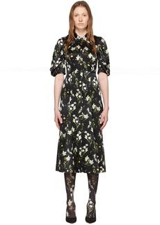 Erdem Black Silk Gisella Dress