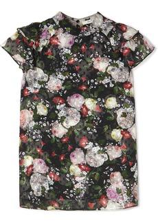 Erdem Clarence Ruffled Floral-print Fil Coupé Chiffon Blouse