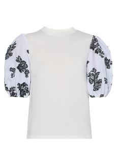 Erdem Combo Puff-Sleeve T-Shirt