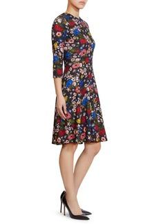 Erdem Dione Jersey Fit-&-Flare Dress