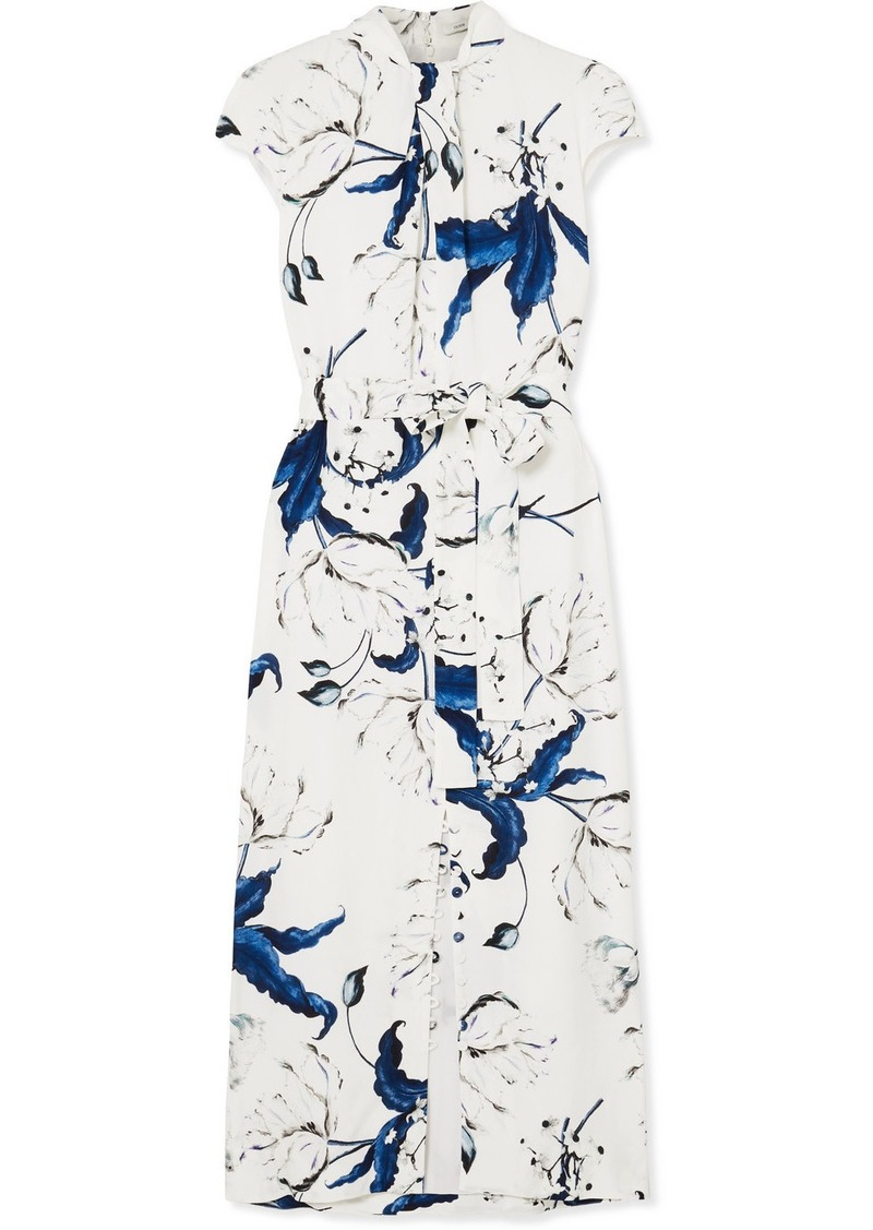 Erdem Finn Floral-print Crepe Midi Dress