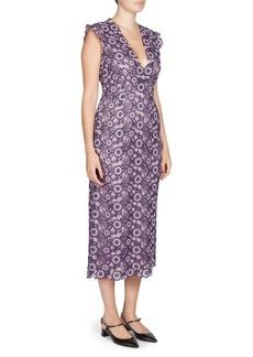 Erdem Eleri V-Neck Dress