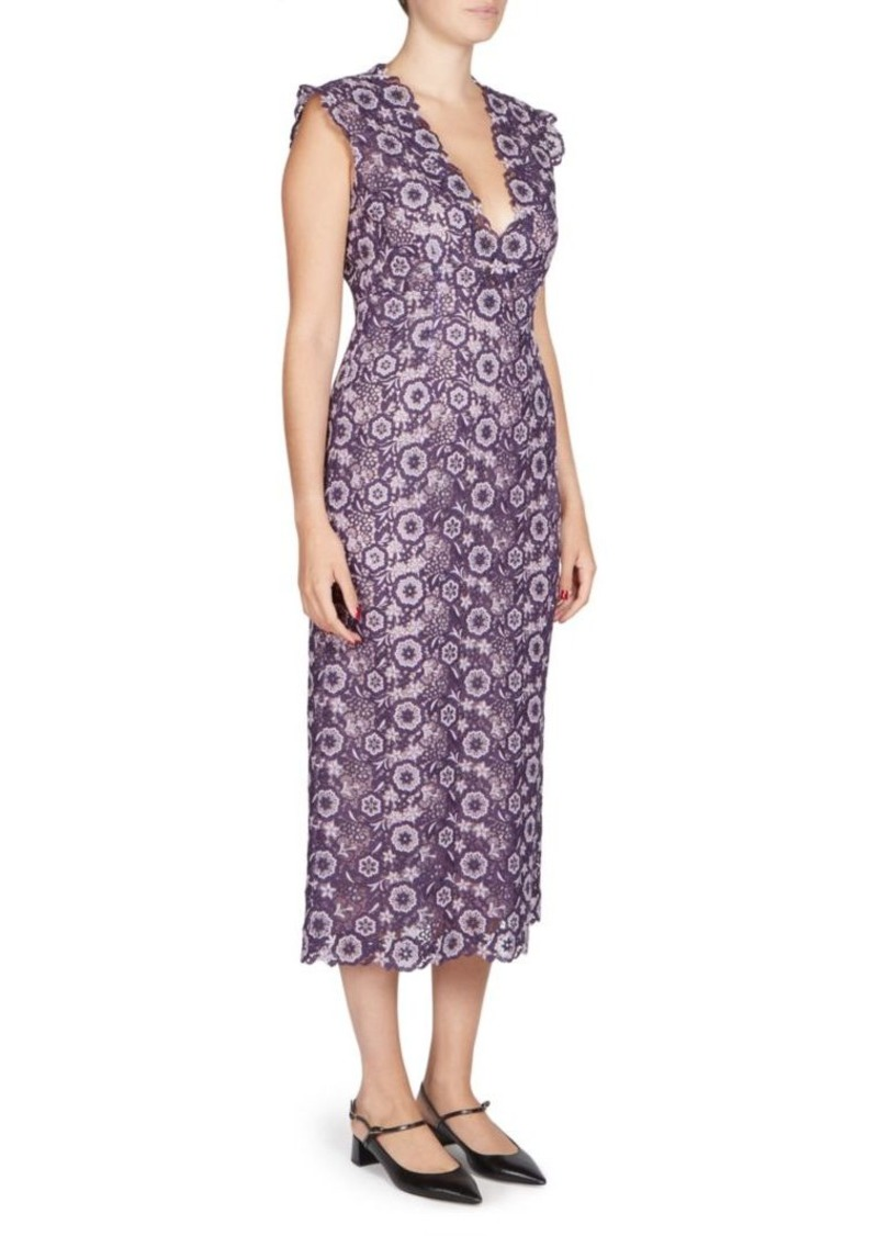 Erdem Eleri V-Neck Dress