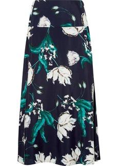 Erdem Elvin Floral-print Crepe Midi Skirt