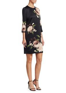 Erdem Emma Floral-Print Shift Dress