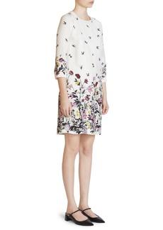 Erdem Emma Floral Silk Shift Dress
