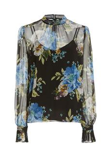 Erdem - Women's Barnaby Floral Silk Blouse - Floral - Moda Operandi