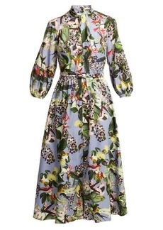 Erdem Adrienne Dream Bird-print dress