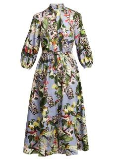 Erdem Adrienne Dream Bird-print dress