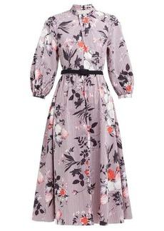 Erdem Adrienne Isabelle-print cotton poplin midi dress