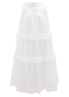 Erdem Adrina cotton broderie-anglaise maxi skirt