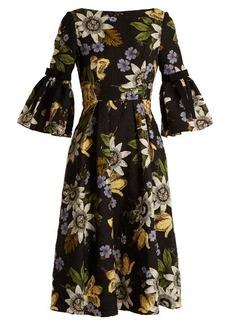 Erdem Aleena floral-print matelassé dress