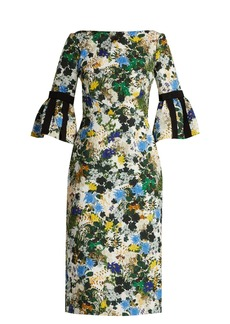 Erdem Alexandra Mariko Meadow-print matelassé dress