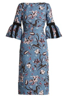 Erdem Alexandra Tulip Dream floral-print cloqué dress