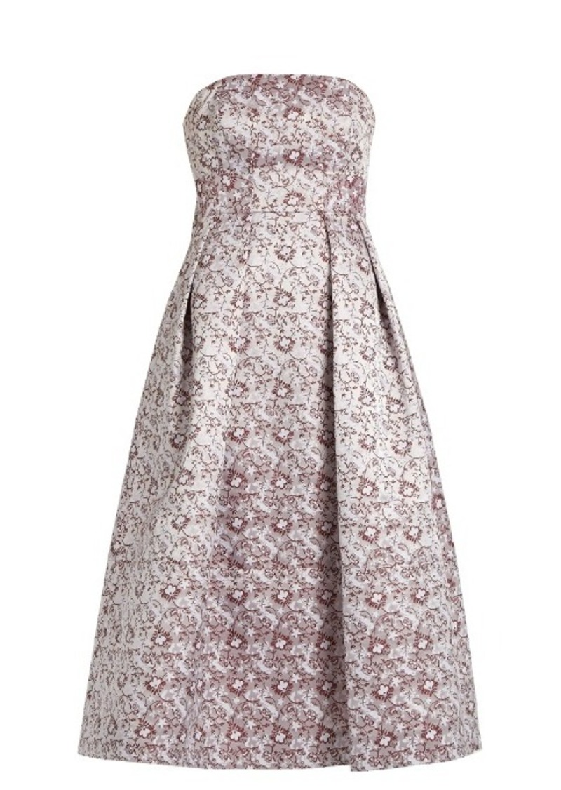 Erdem Alina strapless satin-jacquard dress