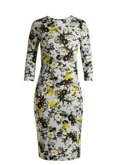 Erdem Allegra Lenten Field-print jersey midi dress