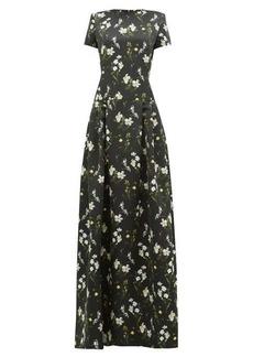 Erdem Alphonse Daffodil Dity-print satin-twill gown