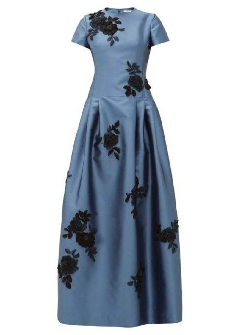 Erdem Alphonse floral-appliqué Mikado-satin gown