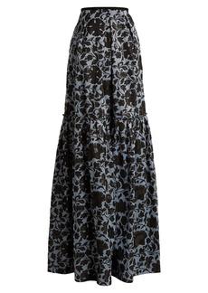 Erdem Amanda floral-jacquard maxi skirt