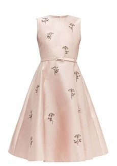 Erdem Angelica beaded mikado knee-length dress