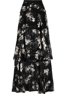Erdem Annabelle ruffled printed silk-chiffon maxi skirt