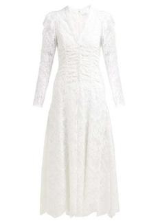 Erdem Annalee cotton-blend Chantilly-lace gown