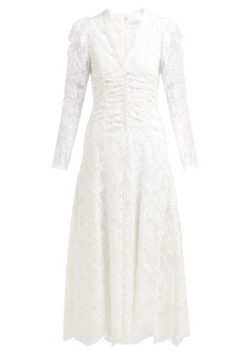 Erdem Annalee cotton-blend Chantilly-lace gown