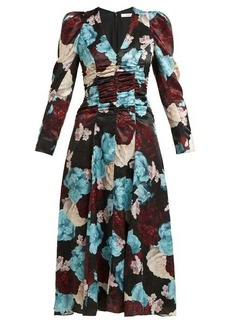 Erdem Annalee floral-print satin dress