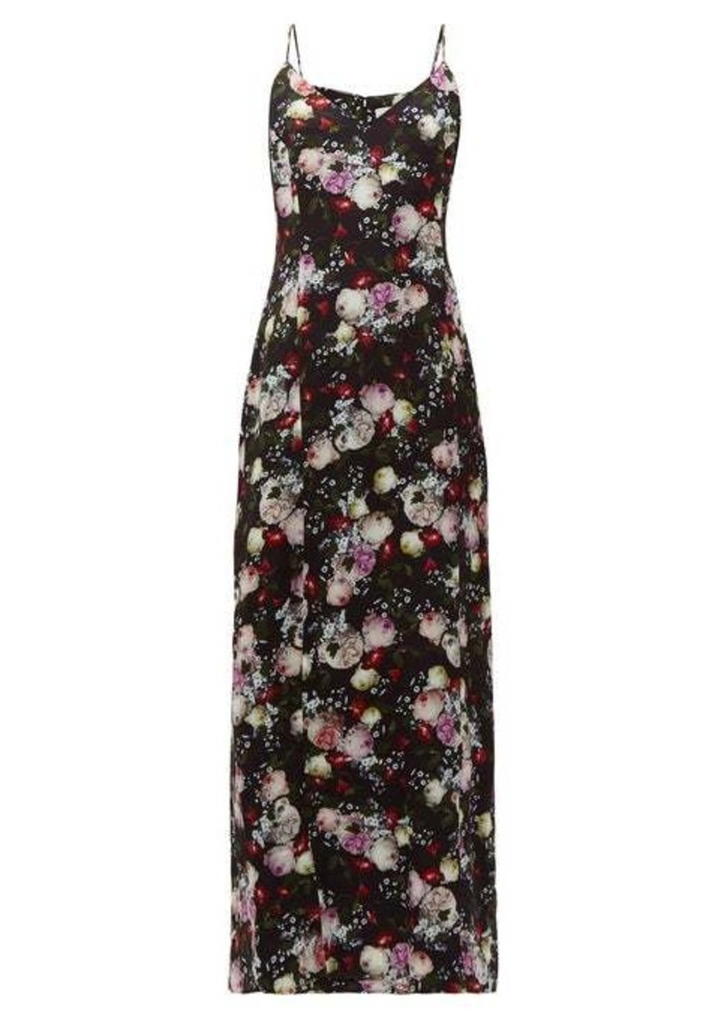 Erdem Aspen Clarence floral-print satin slip dress