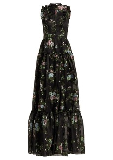 Erdem Ava fil coupé silk-blend voile gown