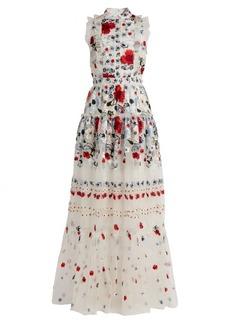 Erdem Ava floral-embroidered silk-organza gown