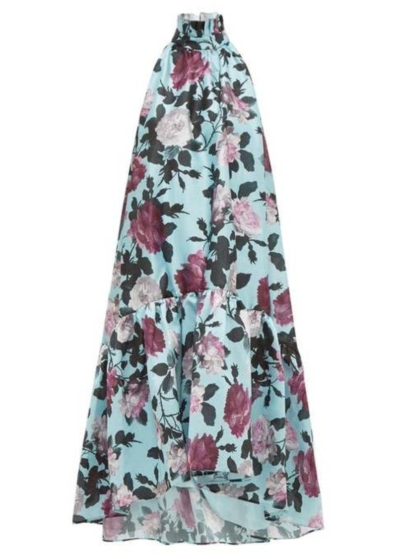 Erdem Belita high-neck floral-print taffeta dress