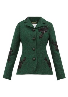 Erdem Benjamin embroidered felt jacket