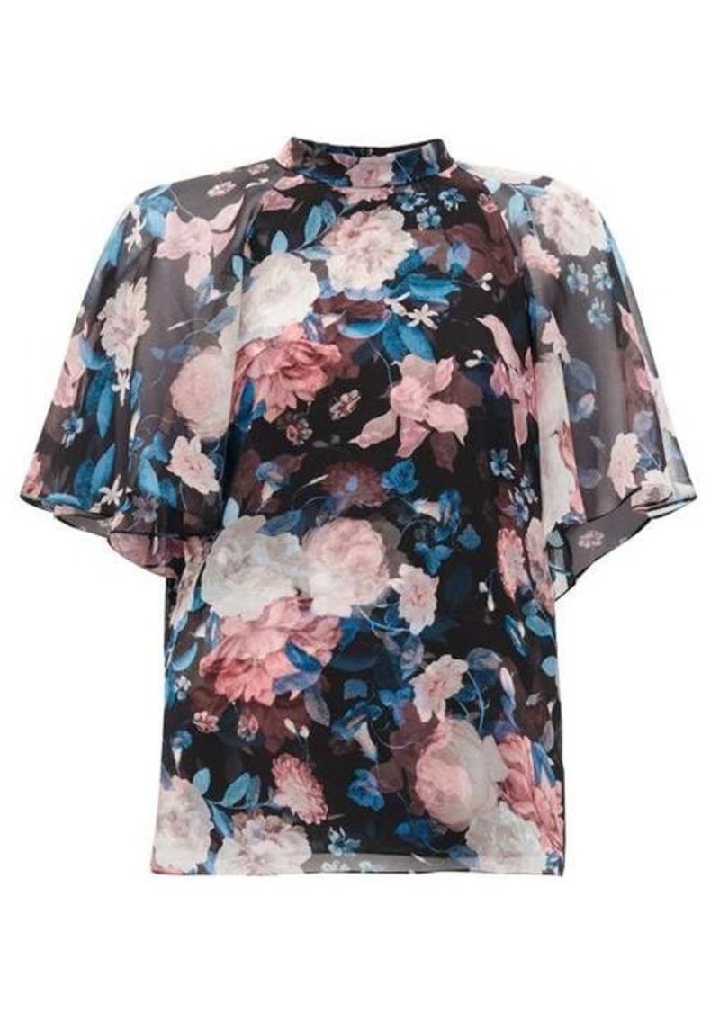 Erdem Bennett floral-print silk crepe de Chine blouse