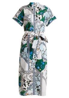Erdem Carlita forest-print cotton shirtdress