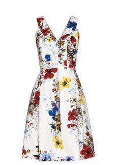 Erdem Carmel Flora-print cotton-canvas dress
