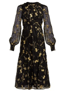 Erdem Carwen Lismore-embroidery organza dress