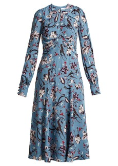 Erdem Carwen Tulip Dream-print crepe midi dress
