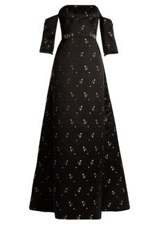 Erdem Cecelia strapless duchess-satin gown