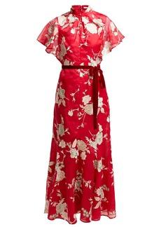 Erdem Celestina Gertrude-embroidered silk-organza gown