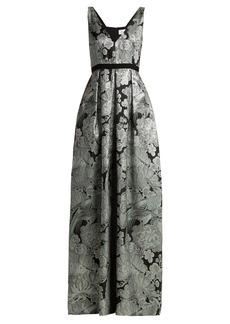 Erdem Ceren floral-matelassé gown