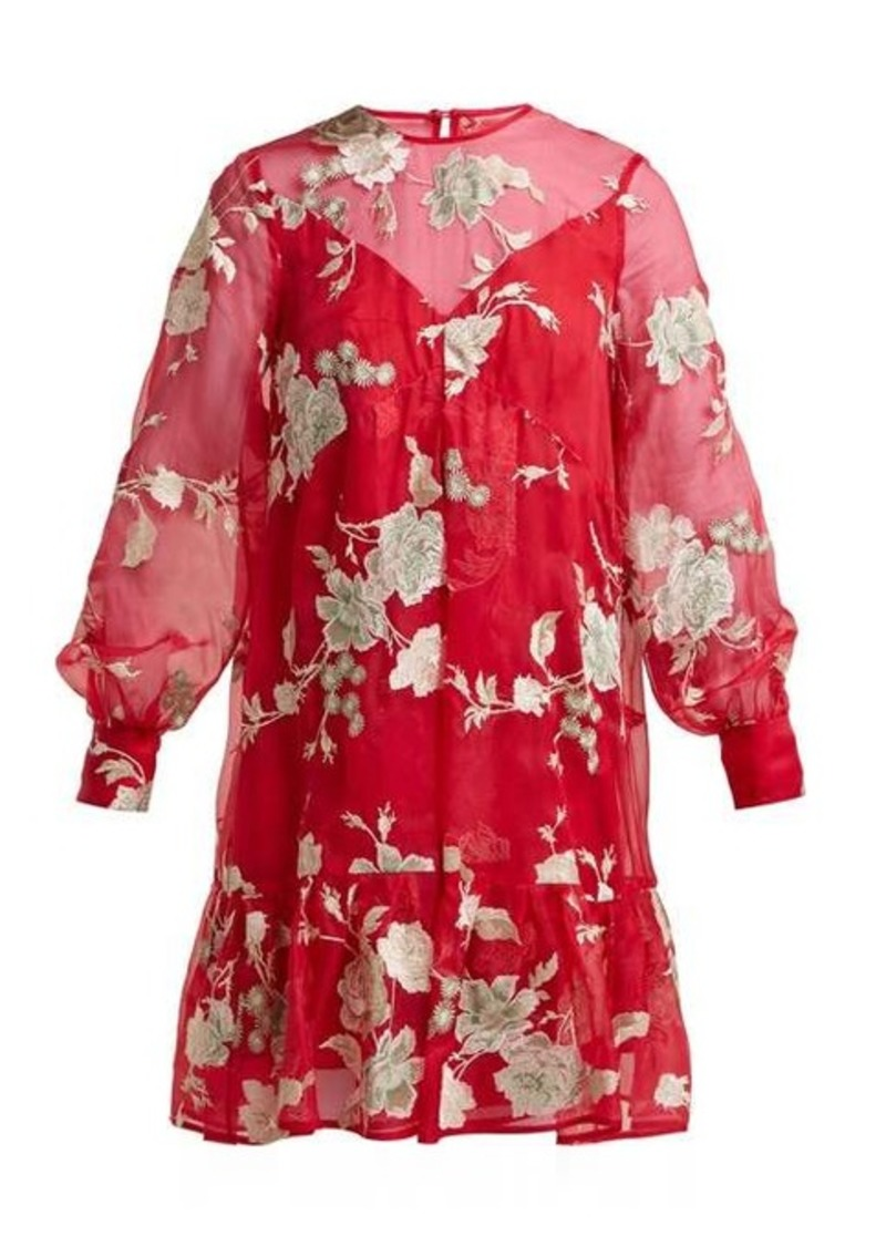 Erdem Christy Gertrude-embroidered silk-organza dress